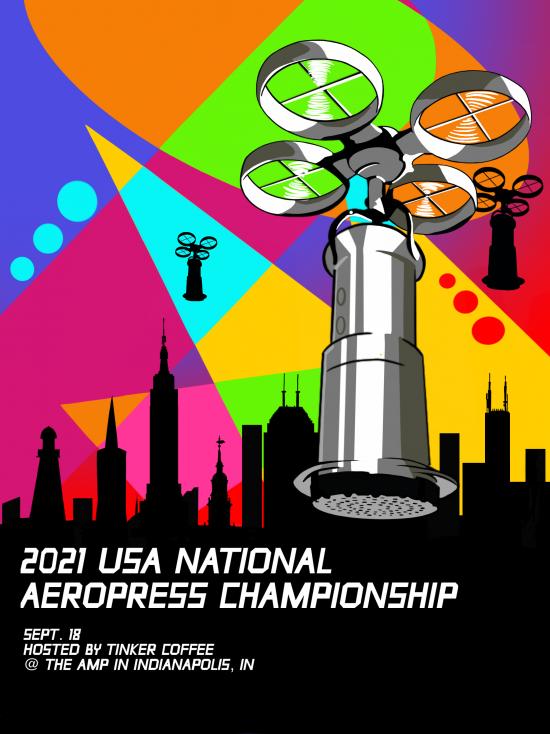 Tinker organiza campeonatos de AeroPress de EE. UU.