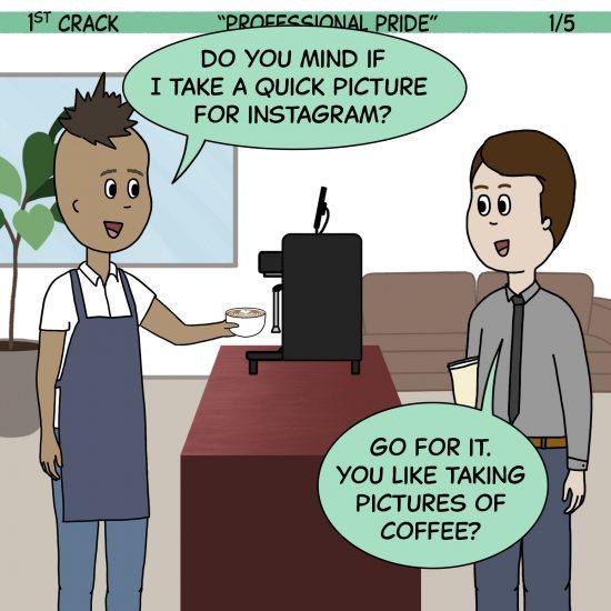 ¡Es 1st Crack, un cómic de café para el fin de semana!