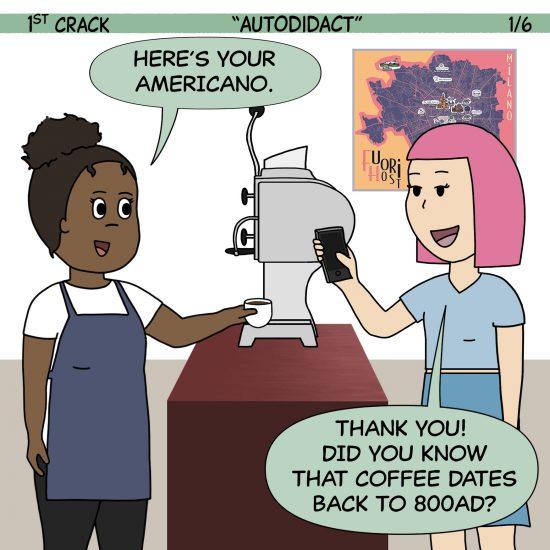 Primer cómic de Crack a Coffee para el fin de semana - 9 de octubre de 2021 Panel 1