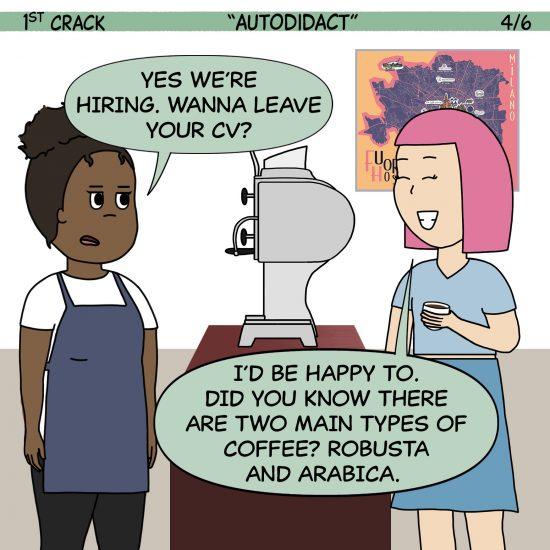 Primer cómic de Crack a Coffee para el fin de semana - 2 de octubre de 2021 Panel 4